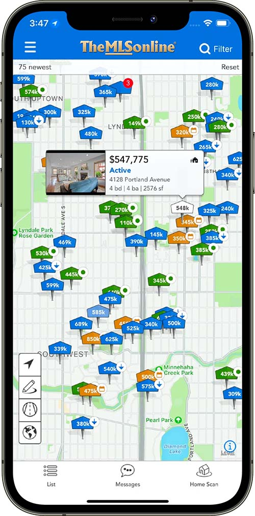 iphone real estate search app